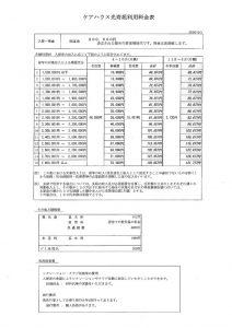 ケア特定施設_料金表のサムネイル